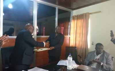 Sierra Leone Electricity and Water Regulatory Commission presents draft water sector regulatory instruments to the Ministry of Water Resources
