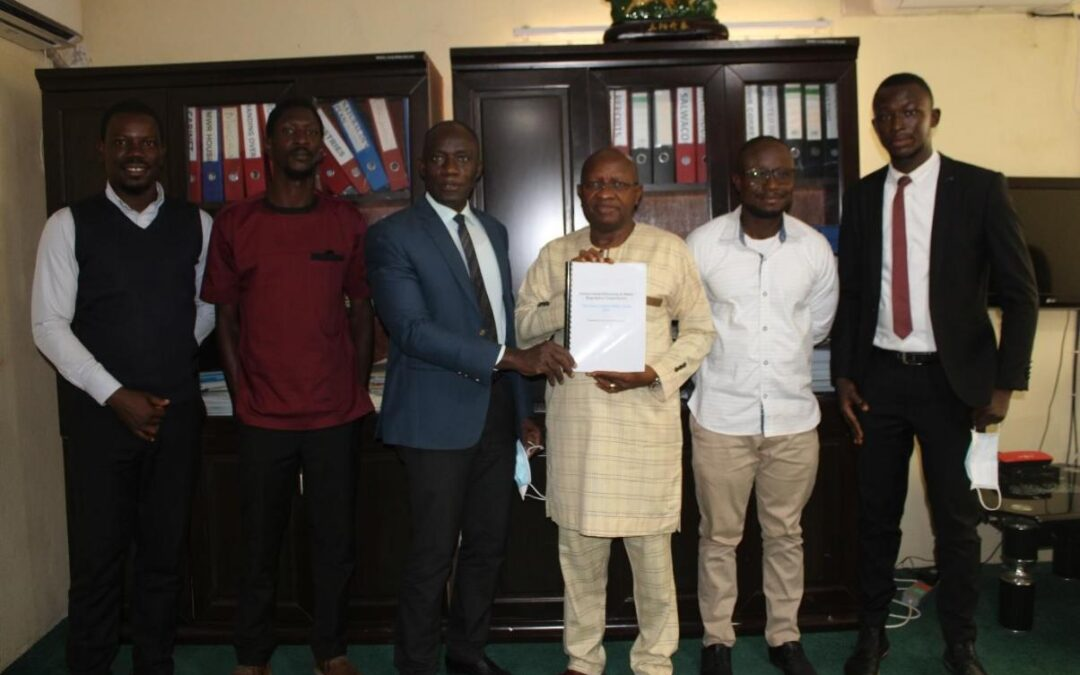 EWRC handover Sierra Leone's first ever Water Code to  The Minister of Water Resources
