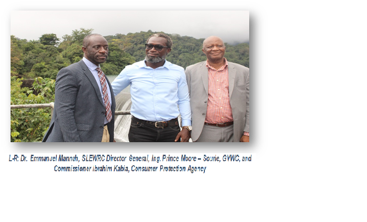 SIERRA LEONE ELECTRICITY AND WATER REGULATORY COMMISSION PAYS INSPECTION VISIT TO GUMA VALLEY FACILITIES